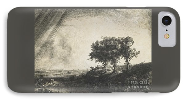 The Three Trees IPhone Case by Rembrandt