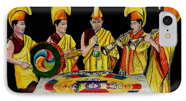 The Tibetan Monks At Lilydale Assembly IPhone Case by Albert Puskaric