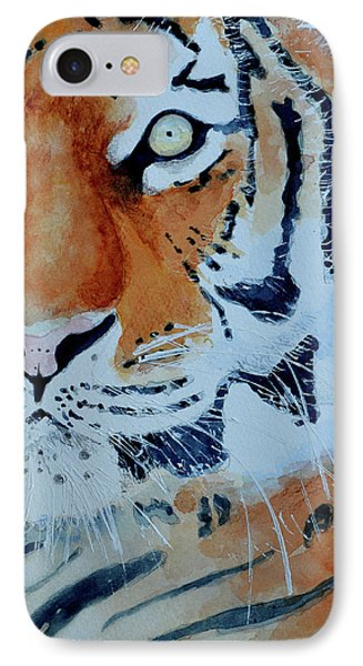 IPhone Case featuring the painting The Tiger by Steven Ponsford