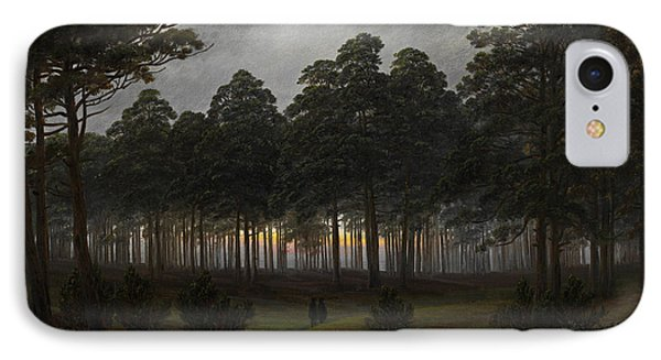 The Times Of Day - The Evening IPhone Case by Caspar David Friedrich