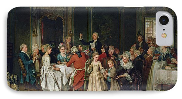 The Toast To The Bride, 1870  IPhone Case by Marc Louis Benjamin Vautier