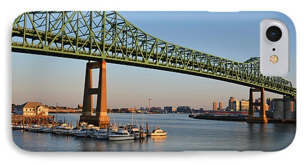 The Tobin Bridge Into The Sunset Chelsea Yacht Club IPhone Case