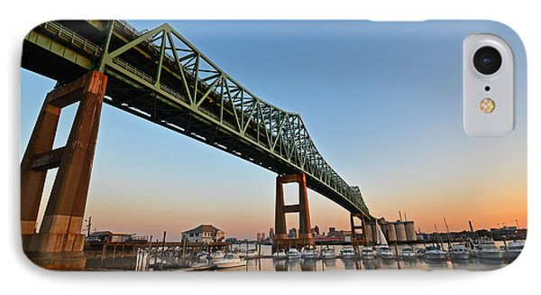 The Tobin Bridge Into The Sunset IPhone Case by Toby McGuire