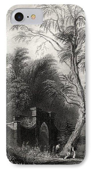 The Tomb Of Washington Mount Vernon Usa IPhone Case by Vintage Design Pics
