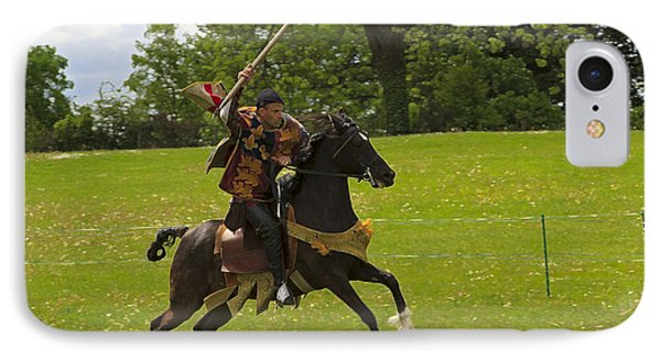 The Toss A Squire Throws A Javelin From Horseback Phone Case by Louise Heusinkveld