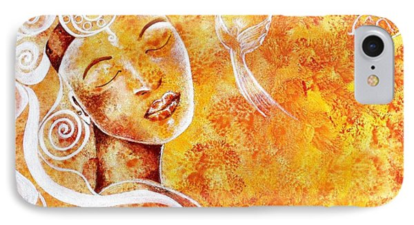 IPhone Case featuring the painting The Touch Of Grace by Julie  Hoyle