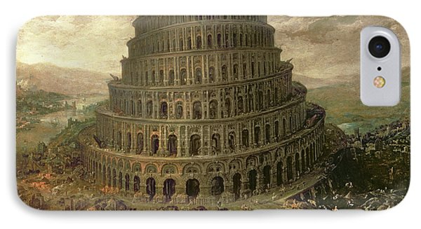 The Tower Of Babel IPhone Case by Tobias Verhaecht