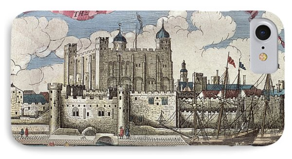The Tower Of London Seen From The River Thames IPhone 7 Case by English School