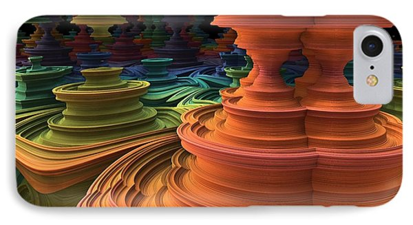 IPhone Case featuring the digital art The Towers Of Zebkar by Lyle Hatch