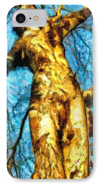 The Tree That Wanted To Be A Woman - Pa IPhone Case by Leonardo Digenio
