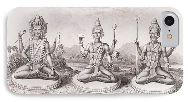 The Trimurti Or Hindu Trinity IPhone Case by English School