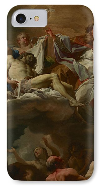 The Trinity With Souls In Purgatory IPhone Case by Corrado Giaquinto