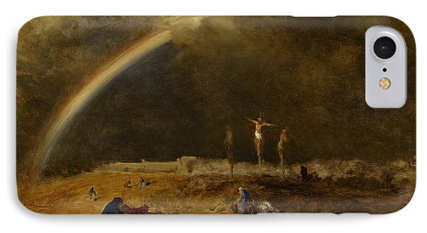 The Triumph At Calvary Phone Case by George Inness