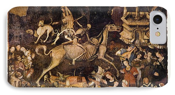 The Triumph Of Death, Medieval Fresco IPhone Case by Mehau Kulyk