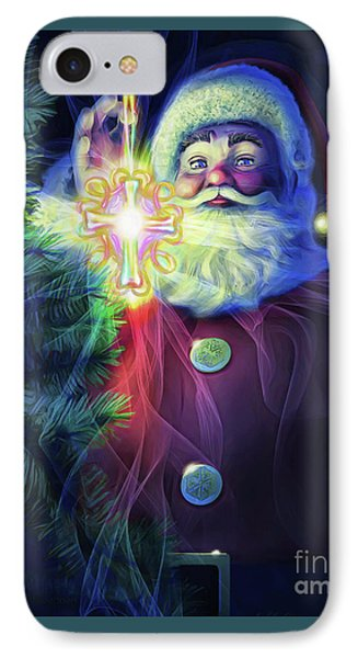 IPhone Case featuring the painting The True Spirit Of Christmas - Bright by Dave Luebbert