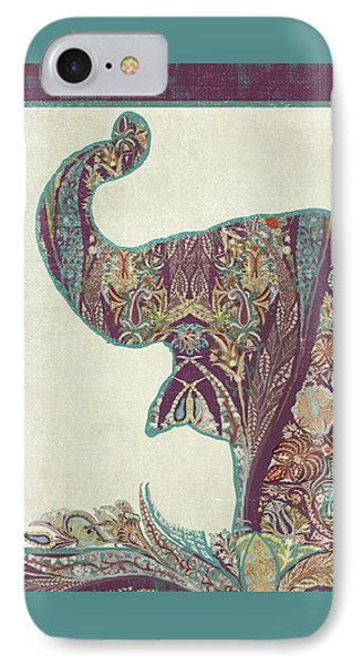The Trumpet - Elephant Kashmir Patterned Boho Tribal IPhone Case by Audrey Jeanne Roberts