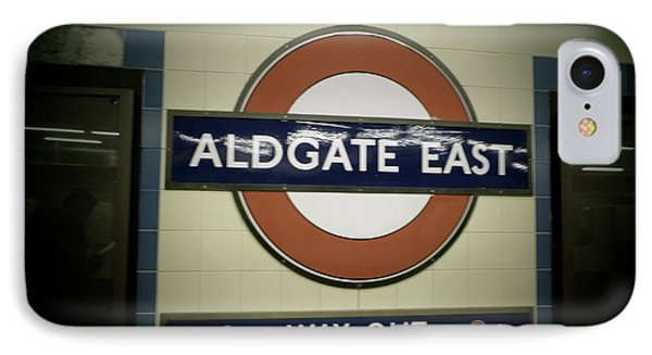IPhone Case featuring the photograph The Tube Aldgate East by Christin Brodie