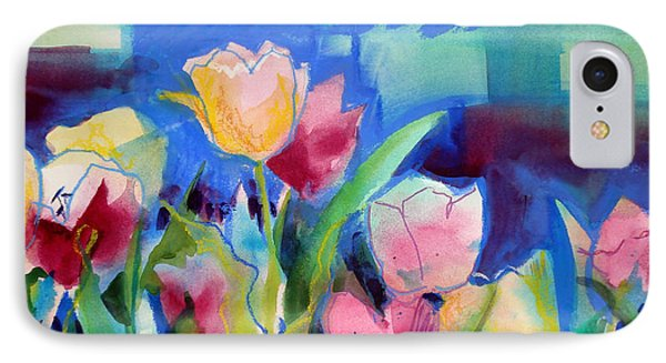 The Tulips Bed Rock Phone Case by Kathy Braud