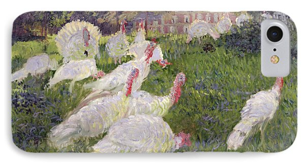 The Turkeys At The Chateau De Rottembourg IPhone Case by Claude Monet