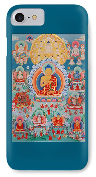 The Twelve Primordial Teachers Of Dzogchen - Tonpa Chu Ni IPhone Case by Sergey Noskov