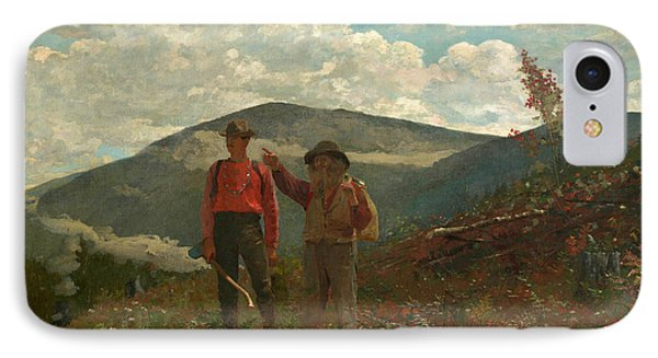 IPhone Case featuring the painting The Two Guides by Winslow Homer