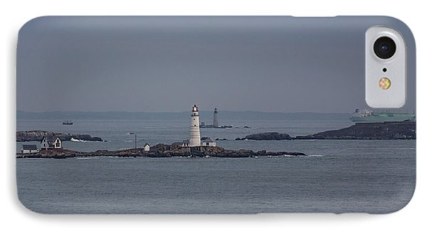 The Two Harbor Lighthouses IPhone Case by Brian MacLean