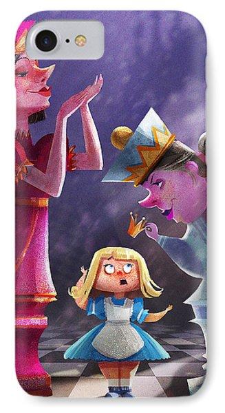 Fairy iPhone 7 Case - The Two Queens, Nursery Art by Kristina Vardazaryan