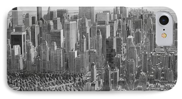 The Ultimate New York City Drawing IPhone Case by Stefan Bleekrode