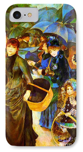 The Umbrellas By Renoir IPhone Case by Pg Reproductions