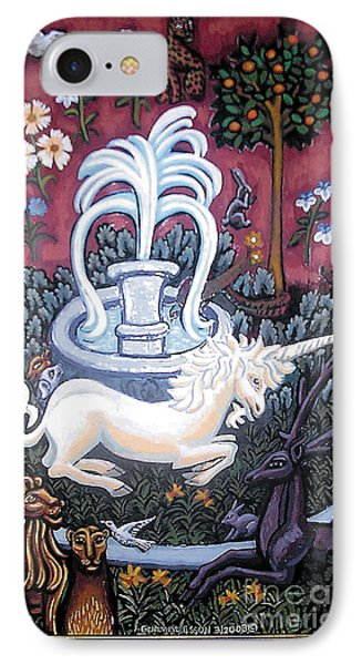 The Unicorn And Garden Phone Case by Genevieve Esson