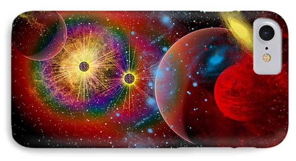 The Universe In A Perpetual State IPhone Case by Mark Stevenson