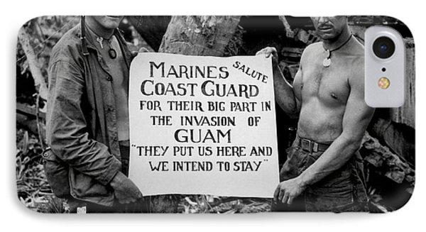 The U.s. Marines Salute The U.s. Coast IPhone Case
