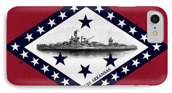 IPhone Case featuring the digital art The Uss Arkansas by JC Findley