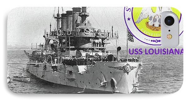 The Uss Louisiana IPhone Case by JC Findley