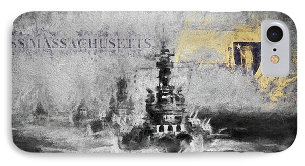 The Uss Massachusetts  IPhone Case by JC Findley
