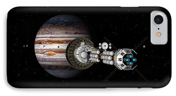 The Uss Savannah Nearing Jupiter IPhone Case by David Robinson