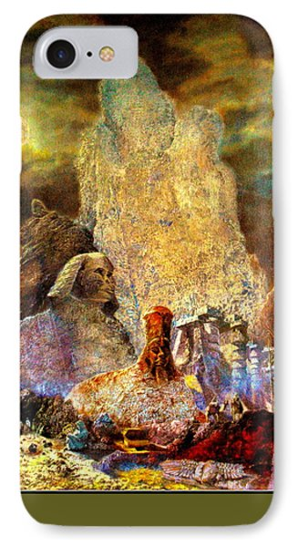 The Valley Of Sphinks Phone Case by Henryk Gorecki