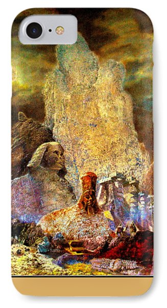 The Valley Of Sphinks IPhone Case by Henryk Gorecki