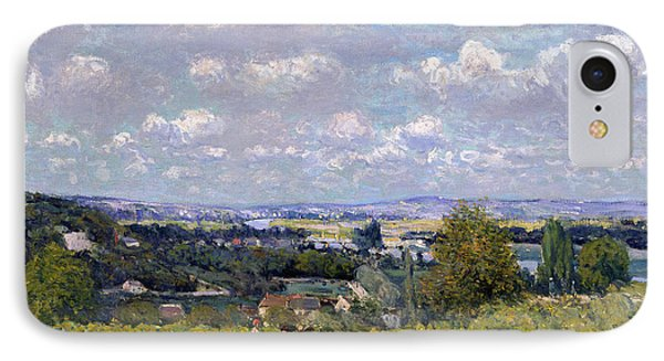 The Valley Of The Seine At Saint Cloud Phone Case by Alfred Sisley