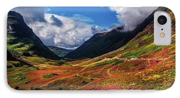 The Valley Of Three Sisters. Glencoe. Scotland IPhone Case by Jenny Rainbow