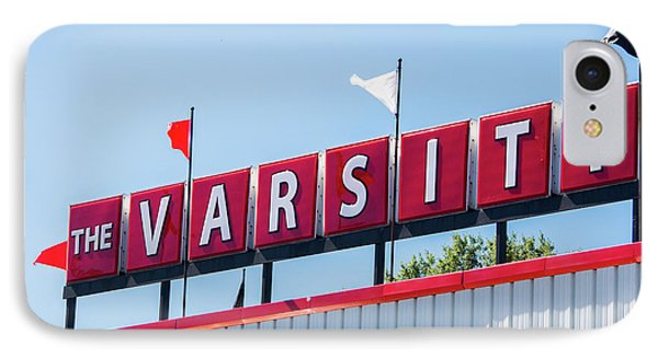 IPhone Case featuring the photograph The Varsity Sign by Parker Cunningham