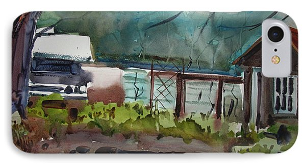IPhone Case featuring the painting The Vegetable Patch Matted Glassed Framed by Charlie Spear