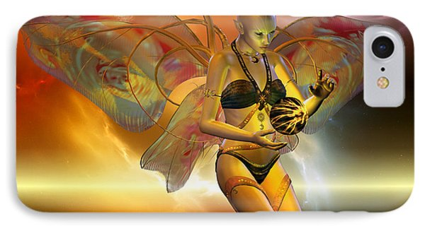 IPhone Case featuring the digital art the VENUSIAN by Shadowlea Is