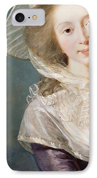 The Vicomtesse De Vaudreuil IPhone Case by Elisabeth Louise Vigee-Lebrun