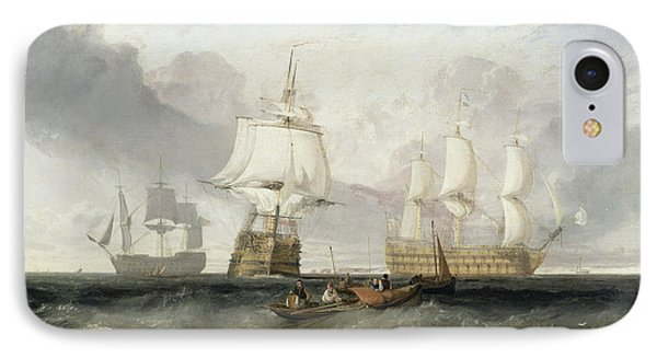 The Victory Returning From Trafalgar IPhone Case by Joseph Mallord William Turner