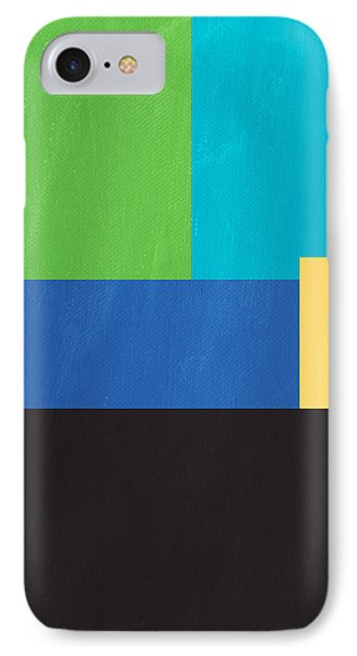 The View From Here- Modern Abstract IPhone 7 Case by Linda Woods