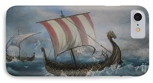 The Vikings IPhone Case by Sorin Apostolescu