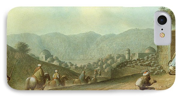 The Village Of Betania With A View Of The Dead Sea IPhone Case by Luigi Mayer
