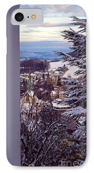 IPhone Case featuring the photograph The Village - Winter In Switzerland by Susanne Van Hulst