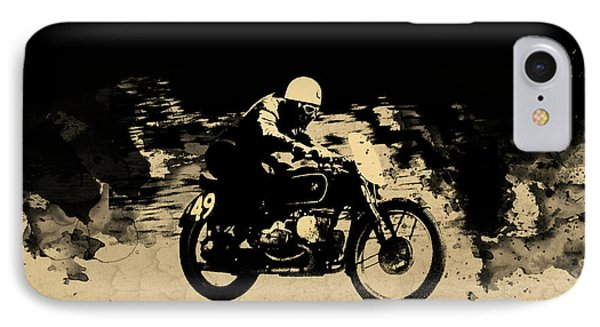 The Vintage Motorcycle Racer Phone Case by Mark Rogan